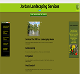 Website for Jordan's Landscaping Services